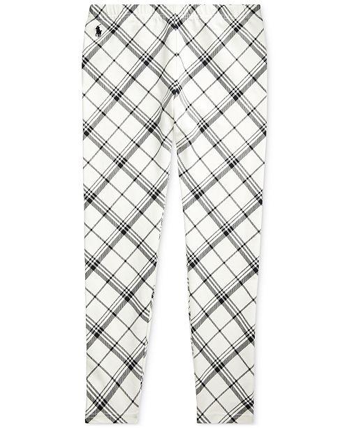 Polo Ralph Lauren Big Girl's Plaid Stretch Jersey Legging