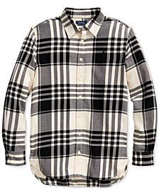 Girl's Plaid Cotton Twill Tunic