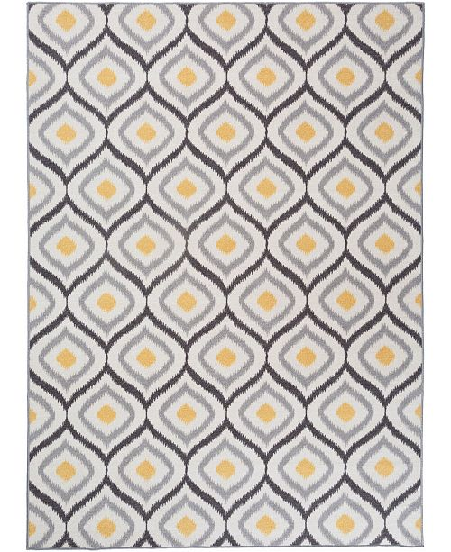 Main Street Rugs Home Laicos Lai512 Gray/Yellow Area Rug Collection
