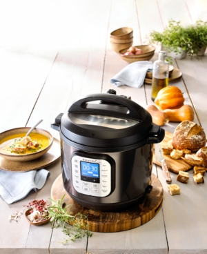 Instant Pot Duo Nova Black Stainless Steel 6-Qt. 7-in-1 One-Touch Multi-Cooker, Created for Macy's