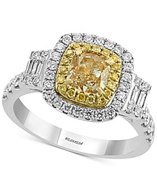 EFFY® HEMATIAN Diamond Halo Ring (1-5/8 ct. t.w.) in 18k Gold & White Gold