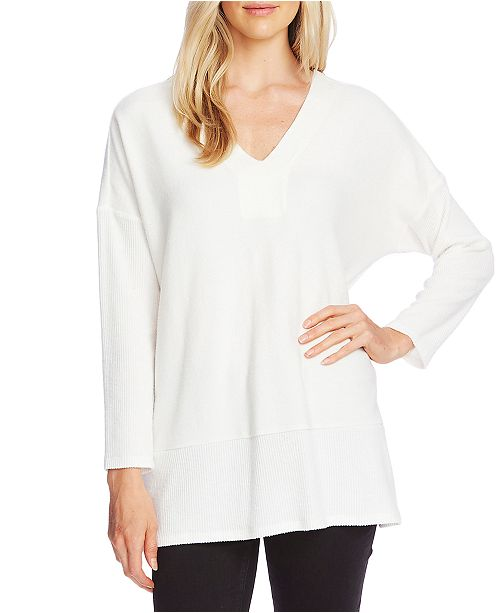 Vince Camuto Ribbed V-Neck Tunic