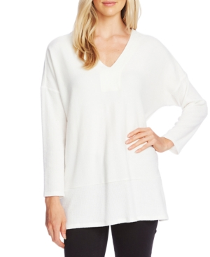 Vince Camuto Tops RIBBED V-NECK TUNIC