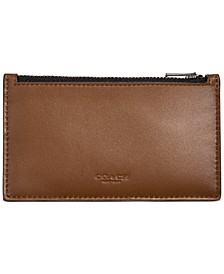 Men's Zip Leather Card Case