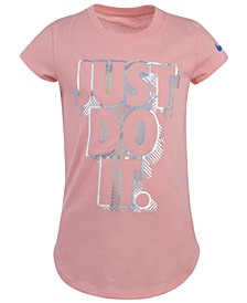 Little Girls Cotton Printed Iridescent T-Shirt