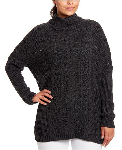 Joseph A Cable-Knit Turtleneck Sweater
