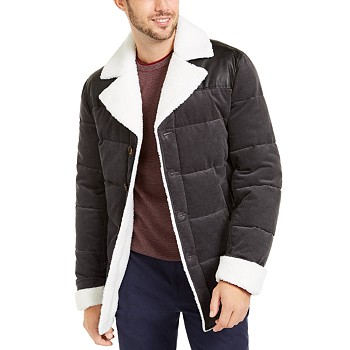 Tasso Elba Men's Corduroy Puffer Jacket