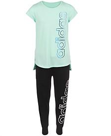 Big Girls Logo-Print T-shirt & Jogger Pants