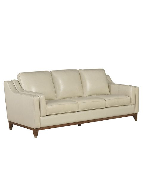 "Furniture Jade 89"" Leather Sofa"