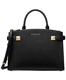 Karla Leather Medium East West Satchel