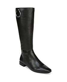 Carella Wide Calf High Shaft Leather Boots
