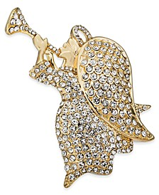 Gold-Tone Crystal Angel Box Pin, Created for Macy's