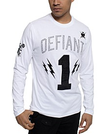 Men's Long-Sleeve Defiant 1 Graphic T-Shirt