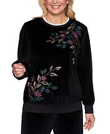 Bright Idea Studded Embroidered Sweatshirt