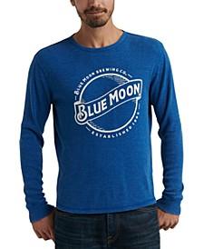 Men's Long-Sleeve Blue Moon Graphic T-Shirt