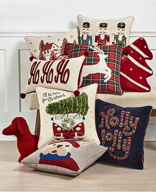 Martha Stewart Collection Novelty Decorative Pillow Collection, Created For Macy's