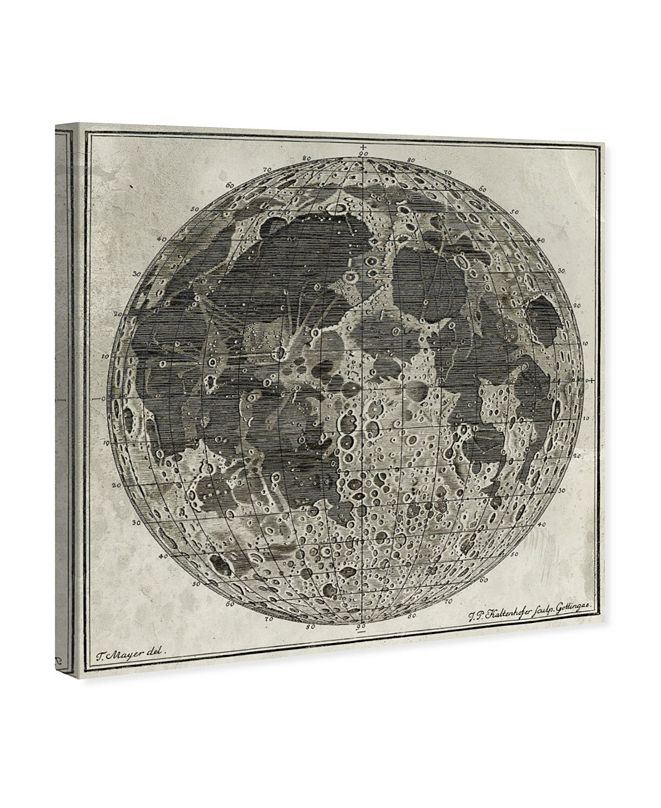 """Oliver Gal Moon Craters Canvas Art, 16"""" x 16"""""""