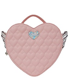 Winged Heart Quilted Mini Backpack