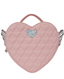 OMG! Accessories Winged Heart Quilted Mini Backpack