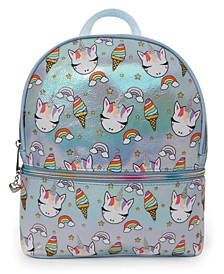 Sweets Unicorn Print Metallic Mini Backpack