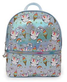 OMG! Accessories Sweets Unicorn Print Metallic Mini Backpack