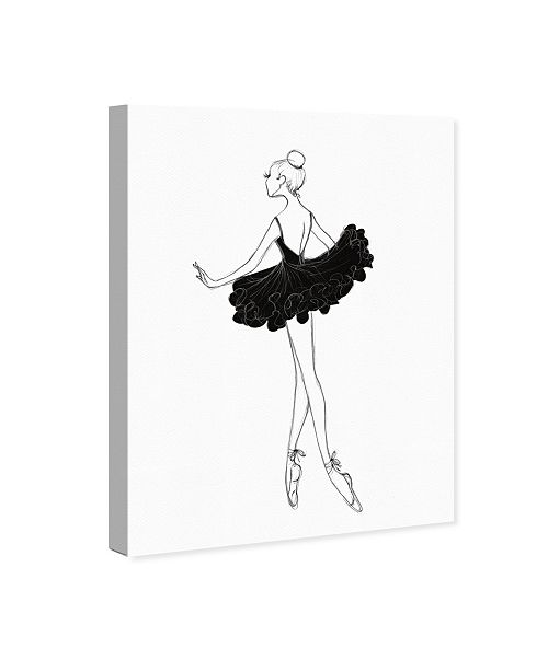 "Oliver Gal Ballerina Sketch Canvas Art, 30"" x 40"""