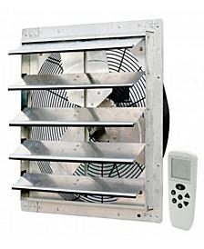 """18"""" Smart Remote Shutter Exhaust Fan, Wall Mounted"""