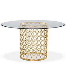 "Carnaby 54"" Glass Top Round Dining Table"