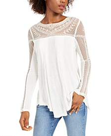 JoJo Lace-Contrast Top