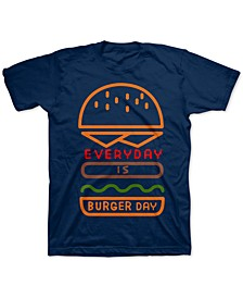 Little Boys Everyday Is Burger Day T-Shirt