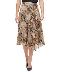 Printed Asymmetrical Skirt