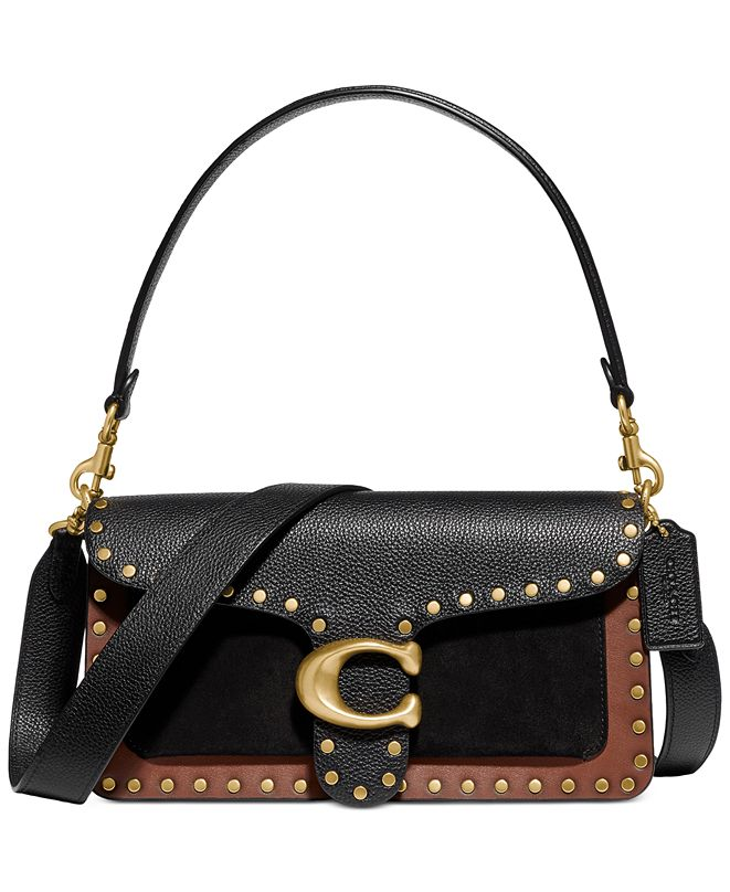 COACH Tabby Mixed Leather Shoulder Bag