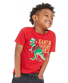 Toddler Boys Santa Saurus-Print T-Shirt, Created For Macy's
