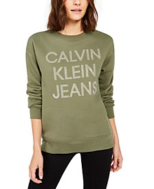 Fleece-Lined Graphic Sweater