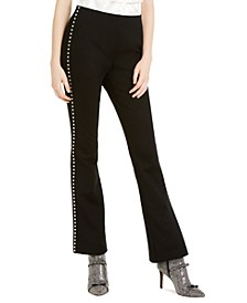 INC Side-Studded Bootcut Pants, Created For Macy's