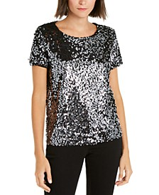 INC Sequined T-Shirt, Created for Macy's