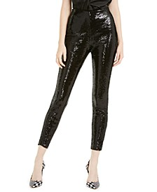 INC Sequined Skinny Ankle Pants, Created for Macy's