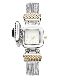 Women's Stone Case Cover  Chain Bracelet Watch 25mm, Created For Macy's