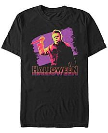 Halloween 2 Men's Neon Michael Myers Short Sleeve T-Shirt