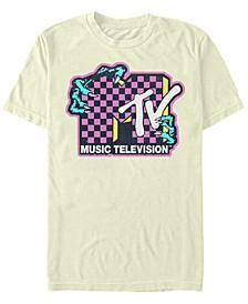 Mtv Men's Music Television Creature Hands Logo Short Sleeve T-Shirt