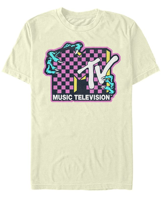 Fifth Sun Mtv Men's Music Television Creature Hands Logo Short Sleeve T-Shirt