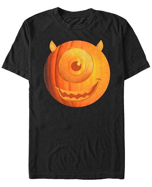 Fifth Sun Disney Pixar Men's Monsters Inc. Halloween Pumpkin Mike Big Face Short Sleeve T-Shirt