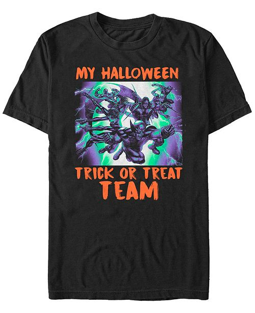 Fifth Sun Marvel Men's Classic X-Men Halloween Trick or Treat Team Short Sleeve T-Shirt