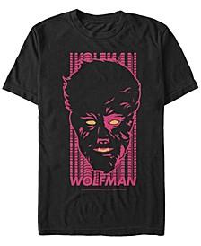 Universal Monsters Men's Wolfman Neon Big Face Short Sleeve T-Shirt
