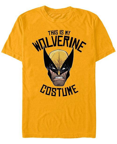 Fifth Sun Marvel Men's Wolverine Halloween Costume Short Sleeve T-Shirt