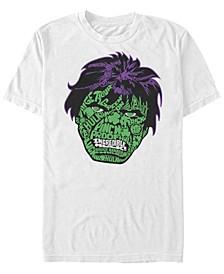 Marvel Men's Retro Good Luck Hulk Big Face, Short Sleeve T-Shirt