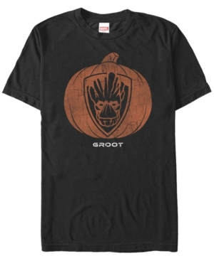 Marvel Men's Guardians of the Galaxy Groot Pumpkin Face Short Sleeve T-Shirt