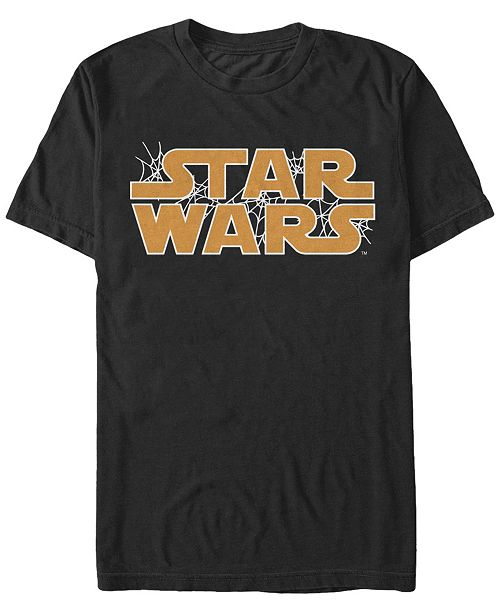Fifth Sun Star Wars Men's Spider Webs Logo Short Sleeve T-Shirt