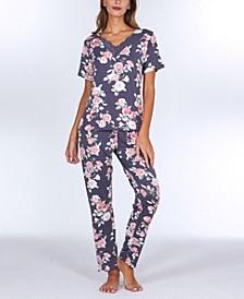 Orli Printed Knit Pajama Set