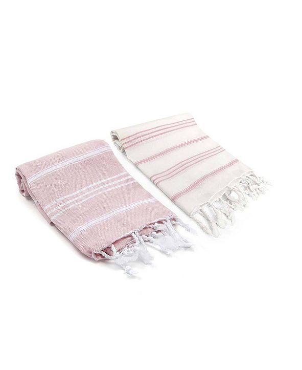 Olive and Linen Bodrum / Datca Turkish Hand Towel 2 Piece Set